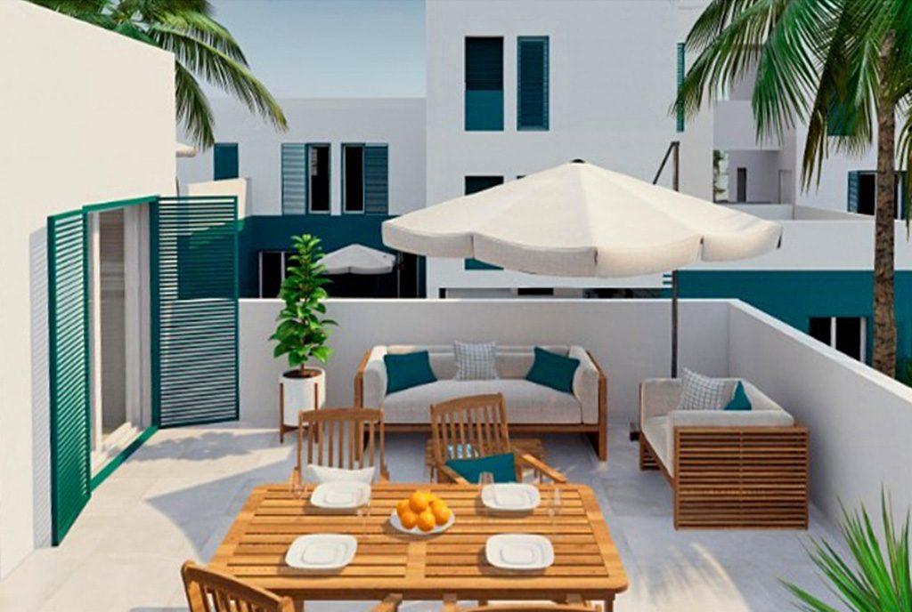 przepiękny, widokowy taras przy luksusowym apartamencie na sprzedaż Hiszpania