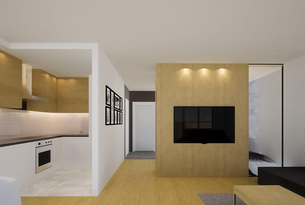 nowoczesny styl aranżacji ekskluzywnego apartamentu do sprzedaży Kalisz