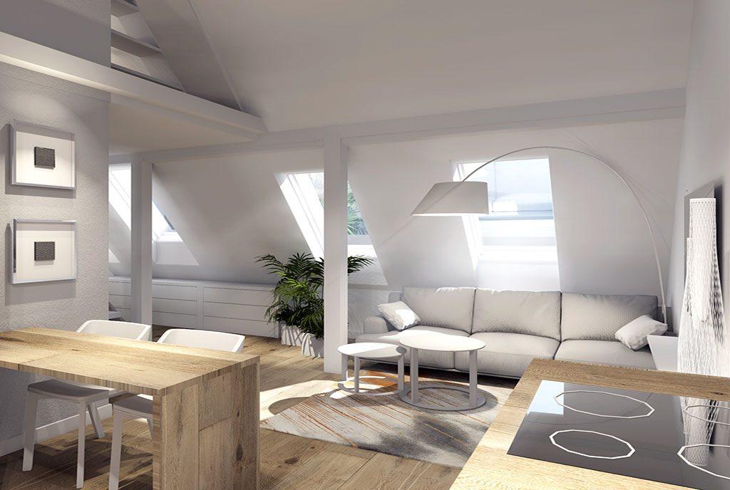 modna, utrzymana w nowoczesnym stylu aranżacja wnętrza luksusowego apartamentu do sprzedaży Szczecin