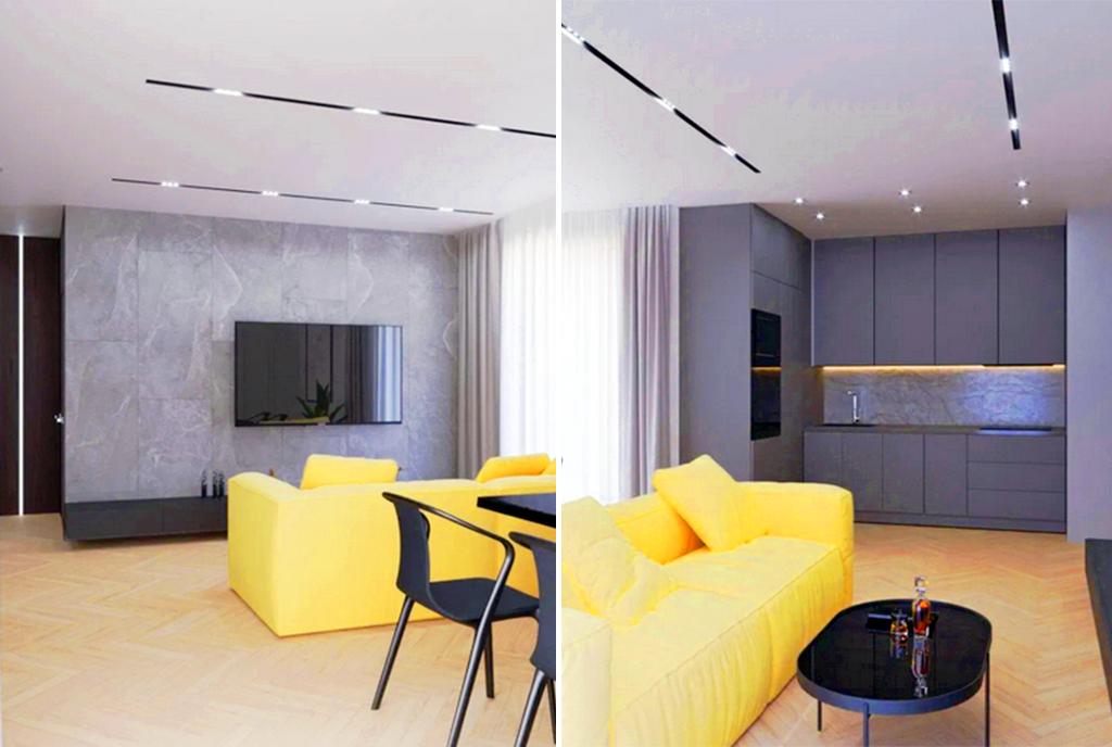 nowoczesny salon w ekskluzywnym apartamencie do sprzedaży Gorzów Wielkopolski