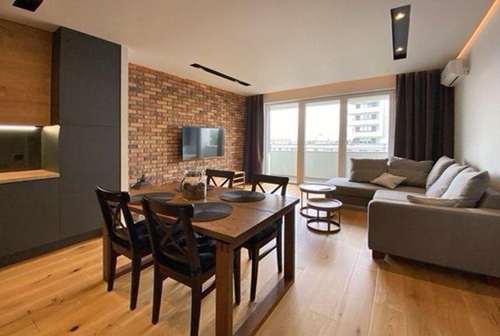 komfortowy salon w ekskluzywnym apartamencie do wynajęcia Szczecin