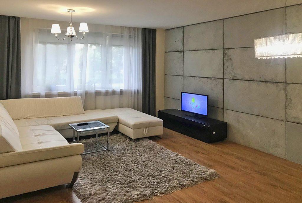 nowoczesny salon w ekskluzywnym apartamencie do sprzedaży Wieluń