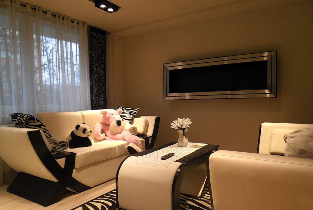 prestiżowy pokój dzienny w ekskluzywnym apartamencie do wynajmu Częstochowa