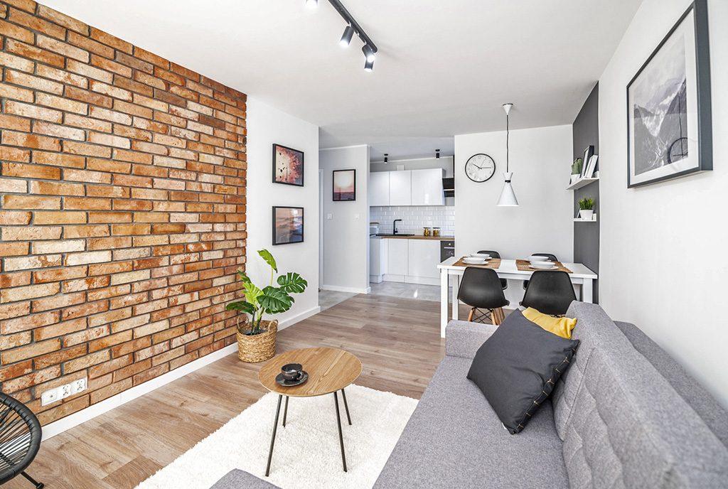 zaprojektowane zgodnie z najnowszymi trendami wnętrze luksusowego apartamentu na sprzedaż Kalisz (okolice)