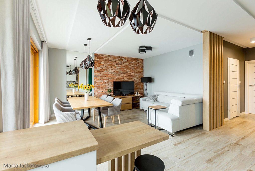 futurystyczny design salonu w ekskluzywnym apartamencie do wynajęcia Piotrków Trybunalski
