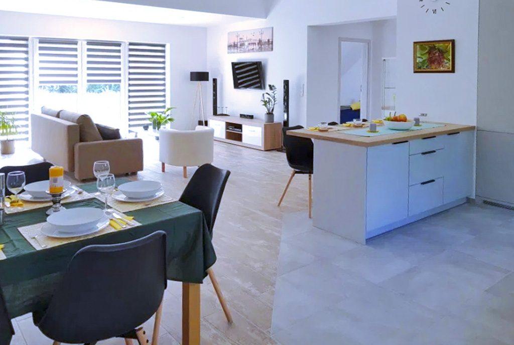 nowoczesne i przestronne wnętrze ekskluzywnego apartamentu do wynajęcia Szczecin