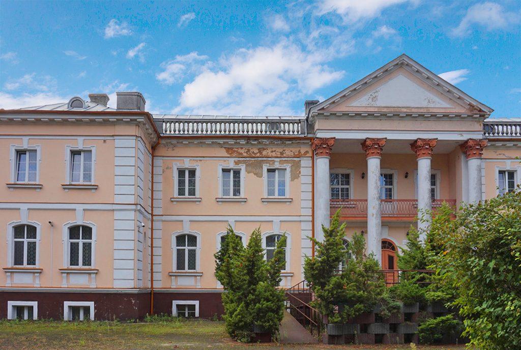 reprezentacyjne wejście do ekskluzywnego pałacu na sprzedaż Wielkopolska
