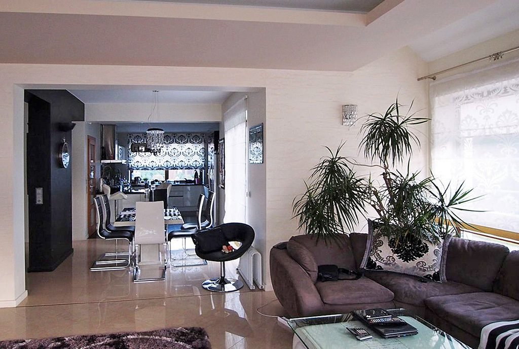 wytworny salon w luksusowej willi na sprzedaż Łódź