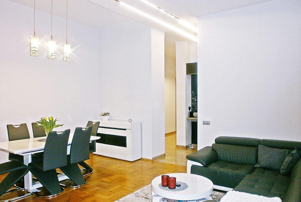 zaprojektowane w nowoczesnym stylu wnętrze ekskluzywnego apartamentu do sprzedaży Częstochowa