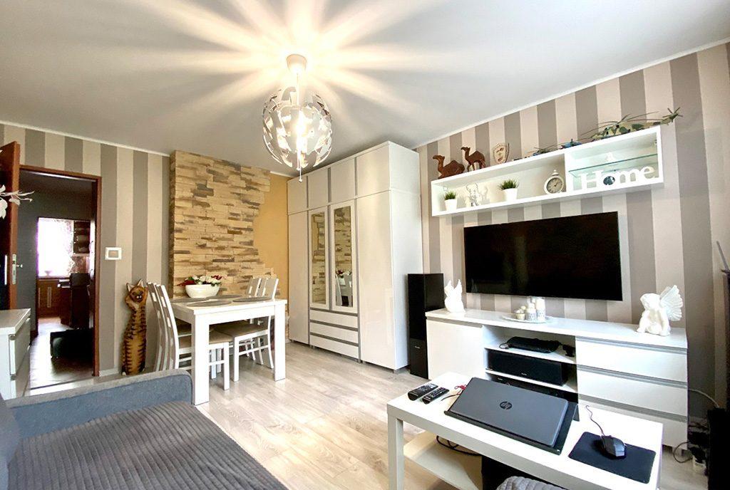 nowoczesny salon w ekskluzywnym apartamencie do sprzedaży Inowrocław