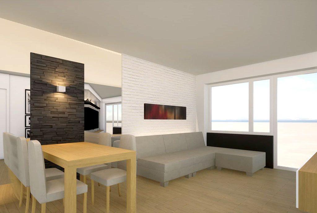 stylowy pokój dzienny w luksusowym apartamencie na sprzedaż Kalisz