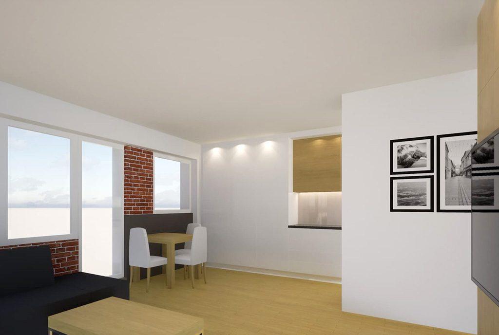 na zdjęciu druga strona salonu w ekskluzywnym apartamencie do sprzedaży Kalisz