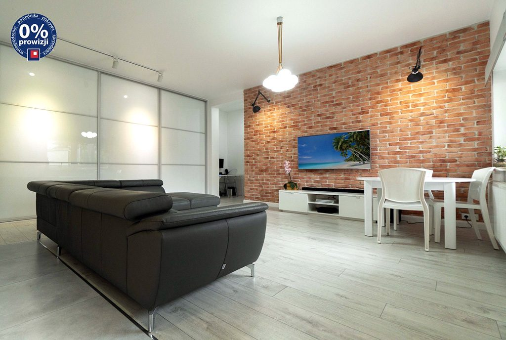 zaprojektowane zgodnie z najnowszymi trendami wnętrze luksusowego apartamentu na sprzedaż Katowice (okolice)