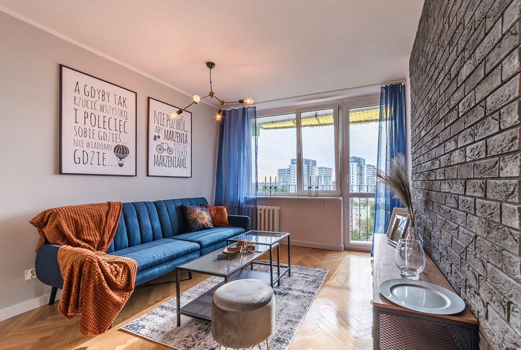 prestiżowe wnętrze salonu w ekskluzywnym apartamencie do sprzedaży Gdańsk