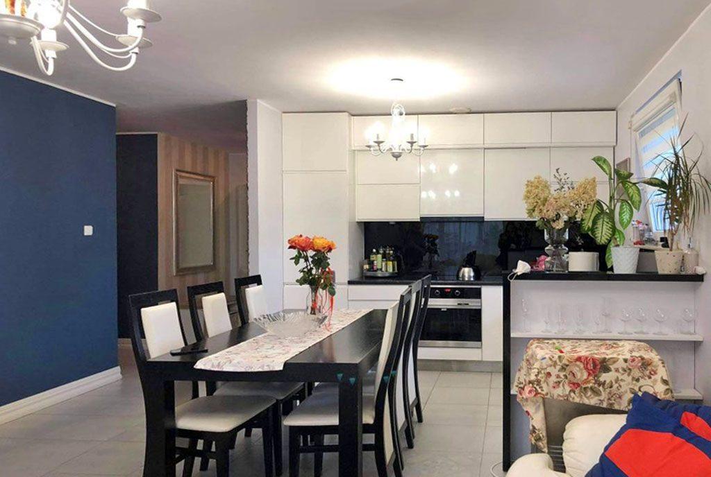 kuchnia w stylowej zabudowie w ekskluzywnym apartamencie do sprzedaży Gdańsk