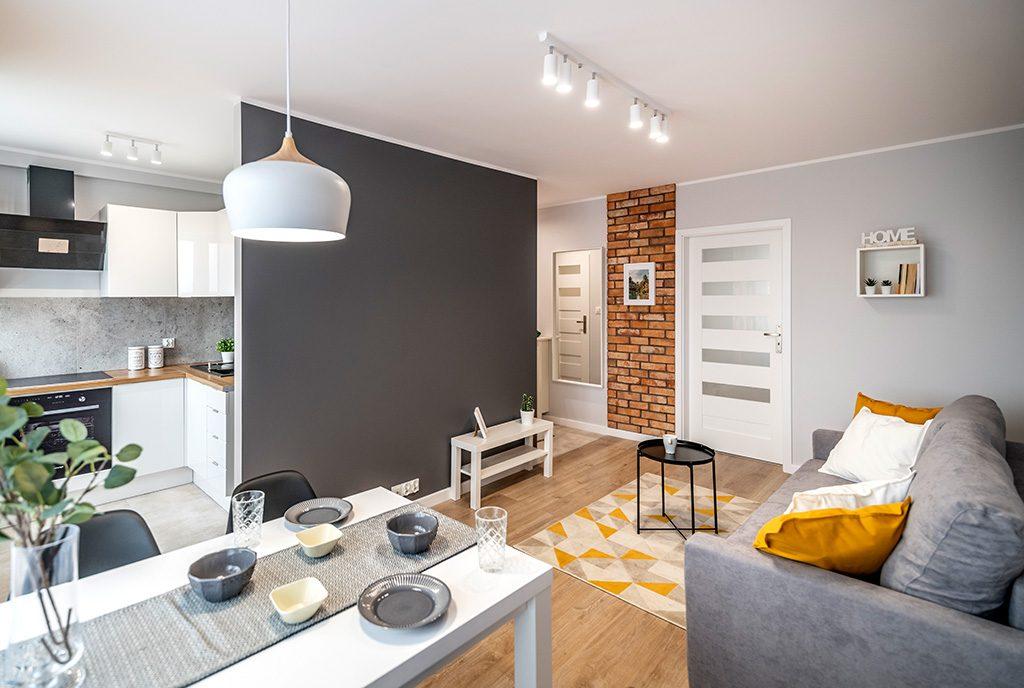 zaprojektowane zgodnie z najnowszymi trendami wnętrze ekskluzywnego apartamentu do sprzedaży Kalisz