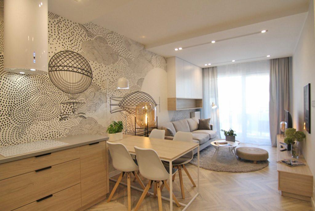 wytworny salon w ekskluzywnym apartamencie do wynajęcia Wieluń