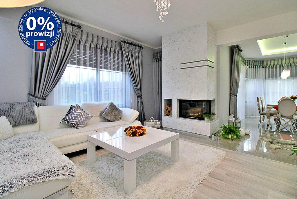 komfortowy pokój dzienny w ekskluzywnej willi do sprzedaży Gorzów Wielkopolski