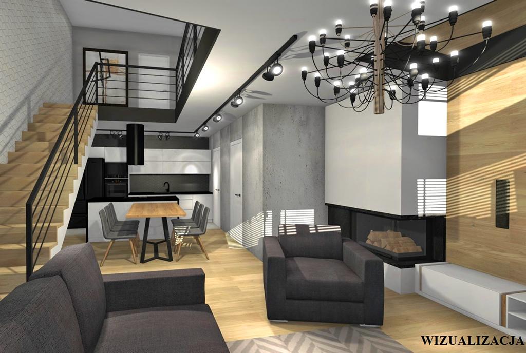 widok na dwa poziomy ekskluzywnego apartamentu do sprzedaży Kwidzyn
