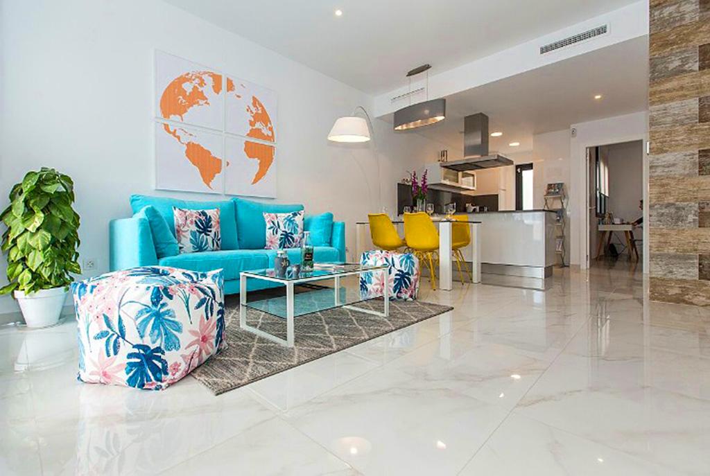 imponujący rozmachem salon w nowoczesnym designie w luksusowej willi na sprzedaż Hiszpania