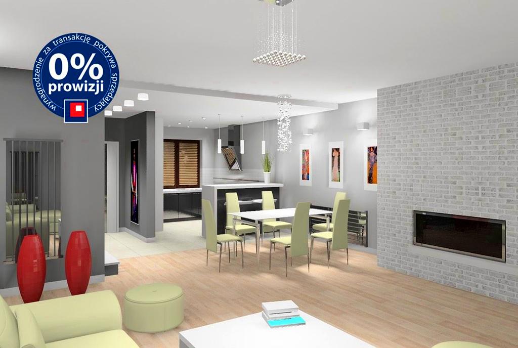 nowoczesny design salonu w luksusowej willi na sprzedaż Katowice