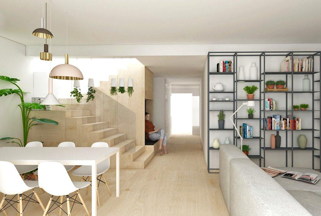 zaprojektowany zgodnie z najnowszymi trendami pokój dzienny w luksusowej willi na sprzedaż Katowice (okolice)