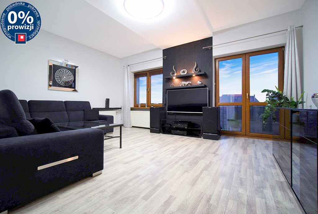 nowoczesny salon w ekskluzywnym apartamencie do sprzedaży Katowice (okolice)