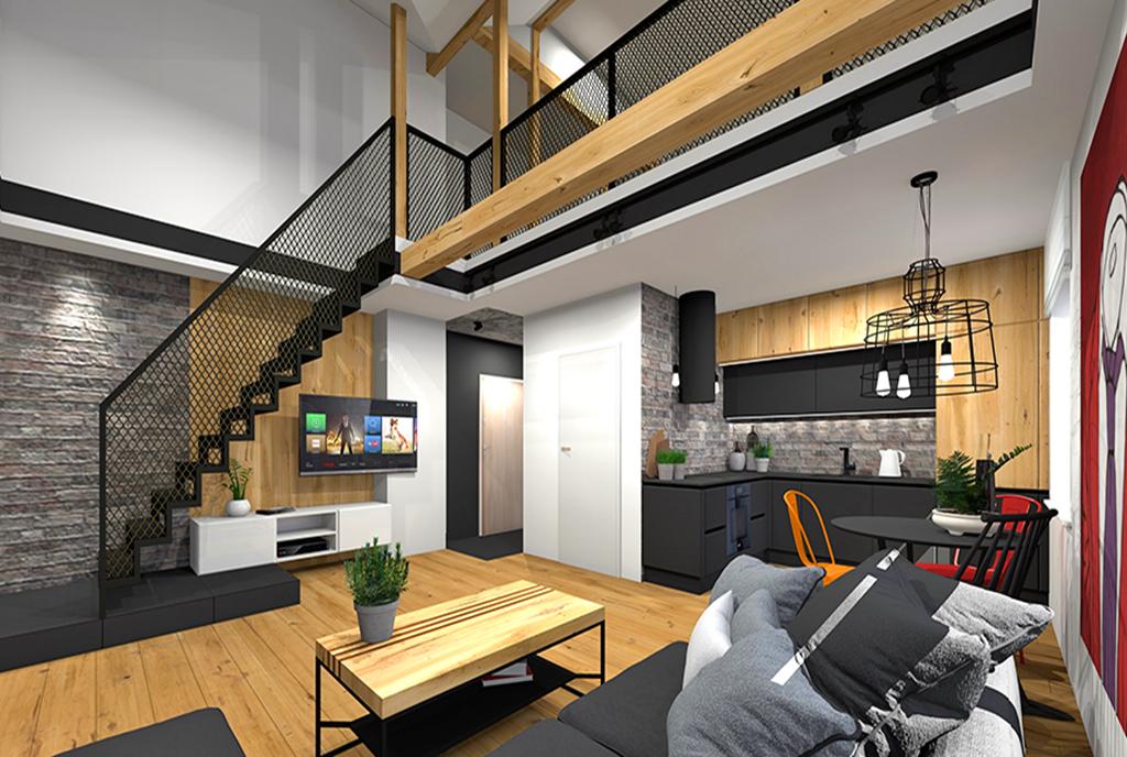 imponujące rozmachem wnętrze ekskluzywnego apartamentu na sprzedaż Katowice (okolice)