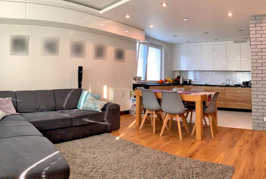zaprojektowane zgodnie z najnowszymi trendami wnętrze luksusowego apartamentu na sprzedaż Konin