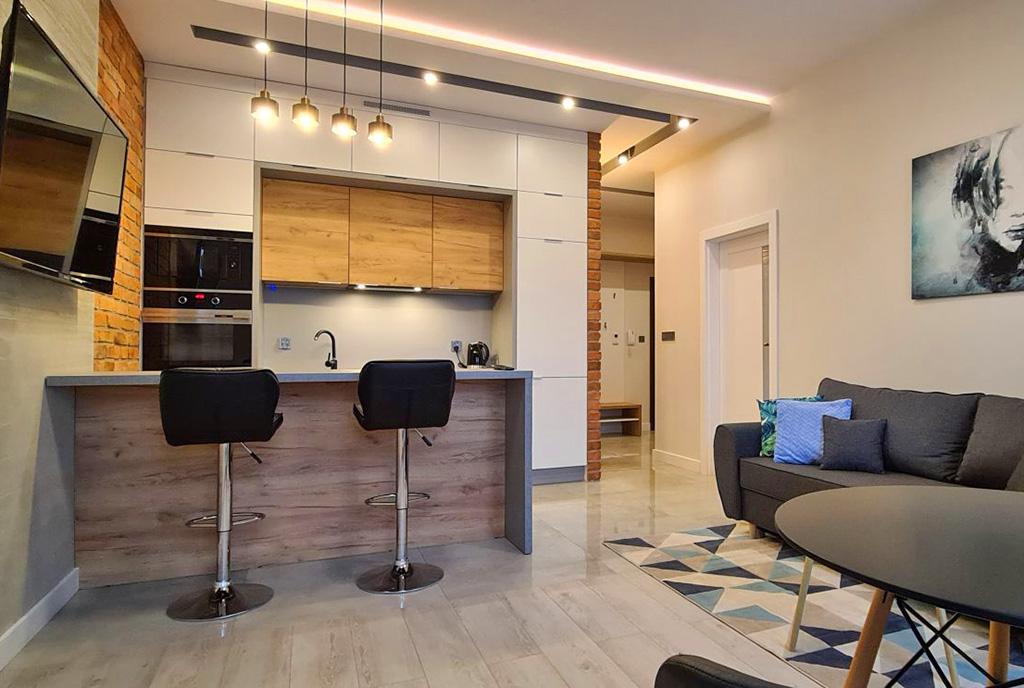 nowoczesne wnętrze ekskluzywnego apartamentu do wynajęcia Wieluń
