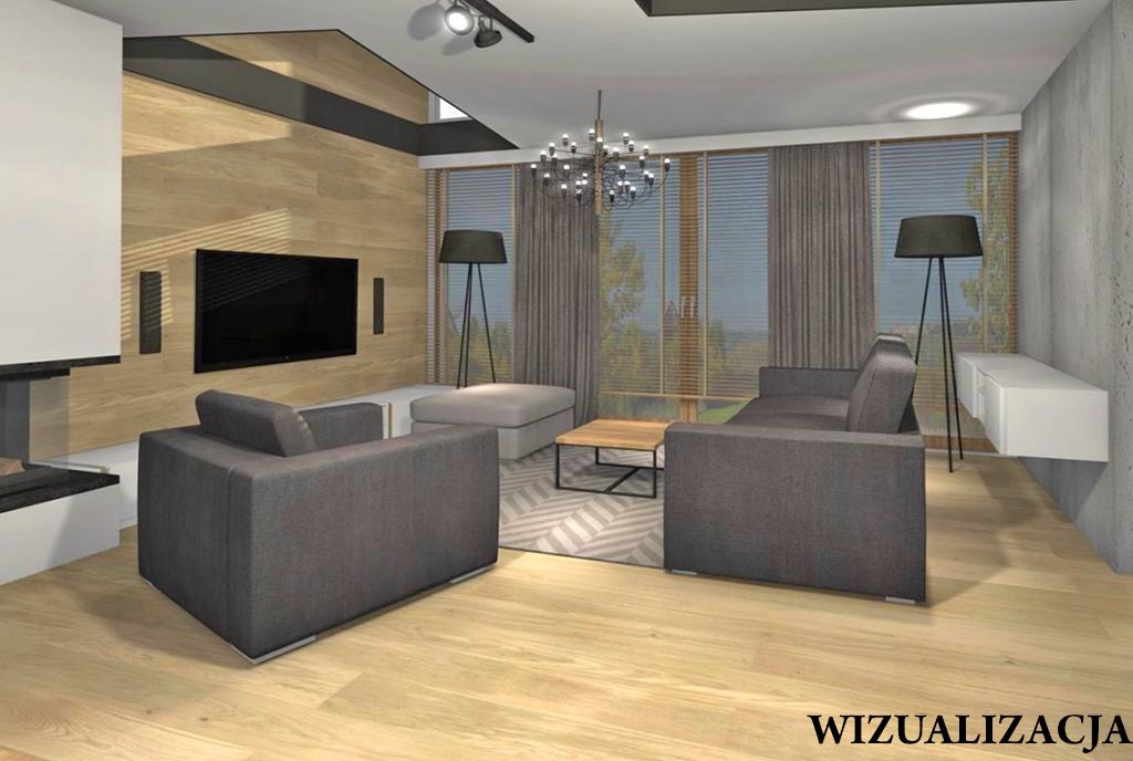 przestronny salon w ekskluzywnym apartamencie do sprzedaży Kwidzyn