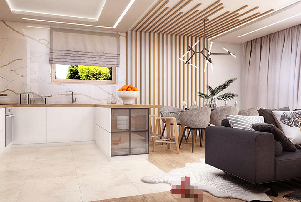 futurystyczny design salonu w ekskluzywnej willi do sprzedaży Tarnów