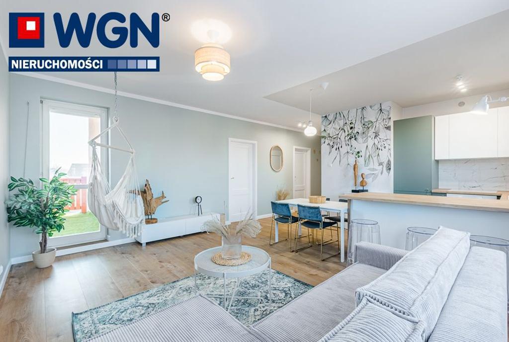wytworne wnętrze salonu w ekskluzywnym apartamencie na sprzedaż Gdańsk