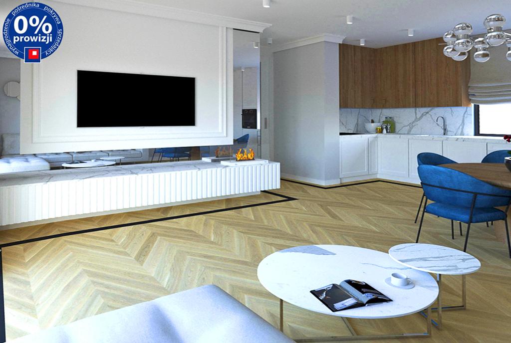 nowoczesny design salonu w ekskluzywnym apartamencie do sprzedaży Katowice (okolice)