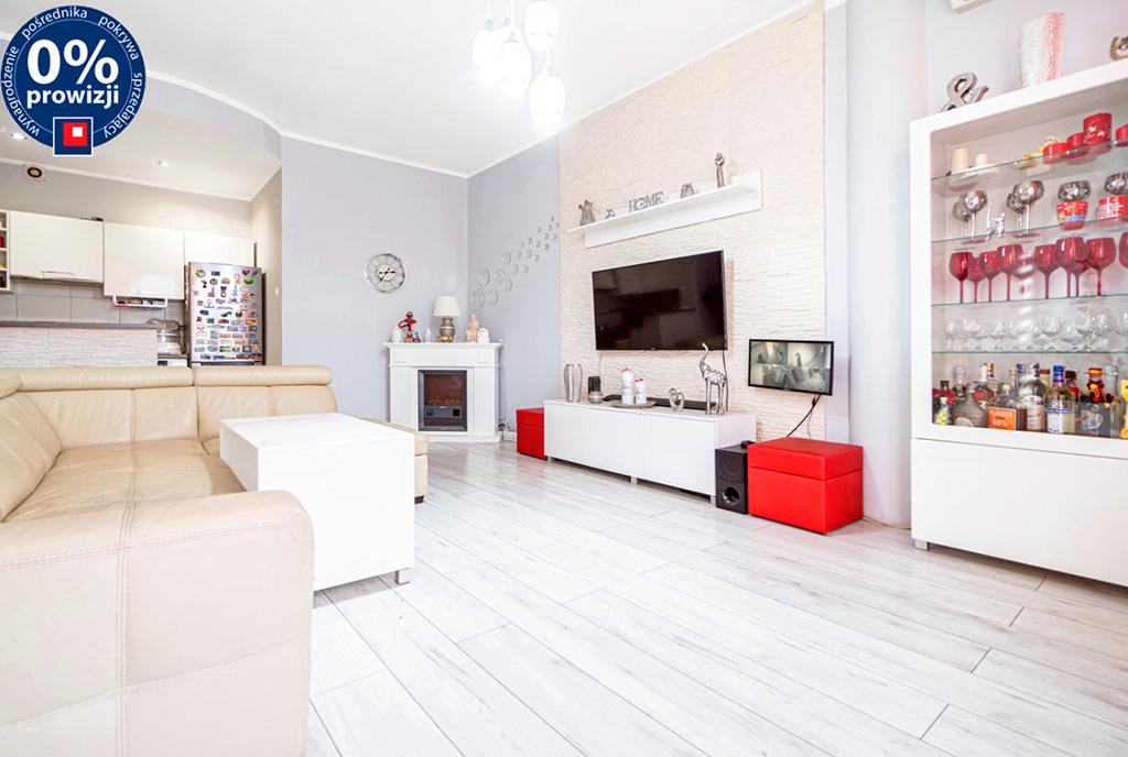 słoneczny salon w ekskluzywnym apartamencie do sprzedaży Katowice (okolice)