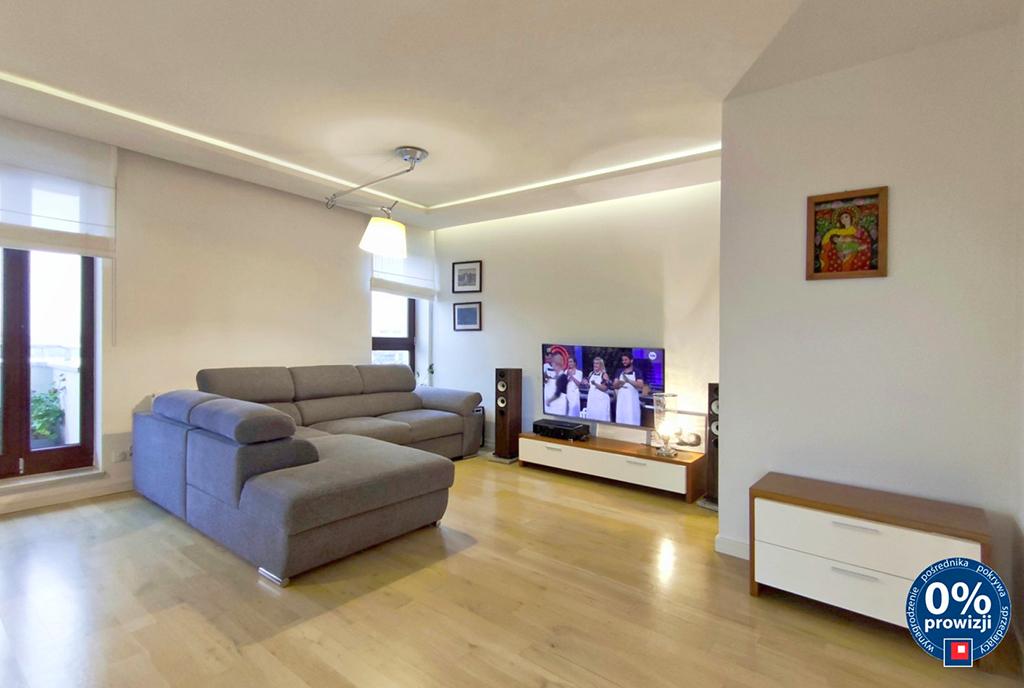 nowoczesny styl salonu w luksusowym apartamencie na sprzedaż Lublin