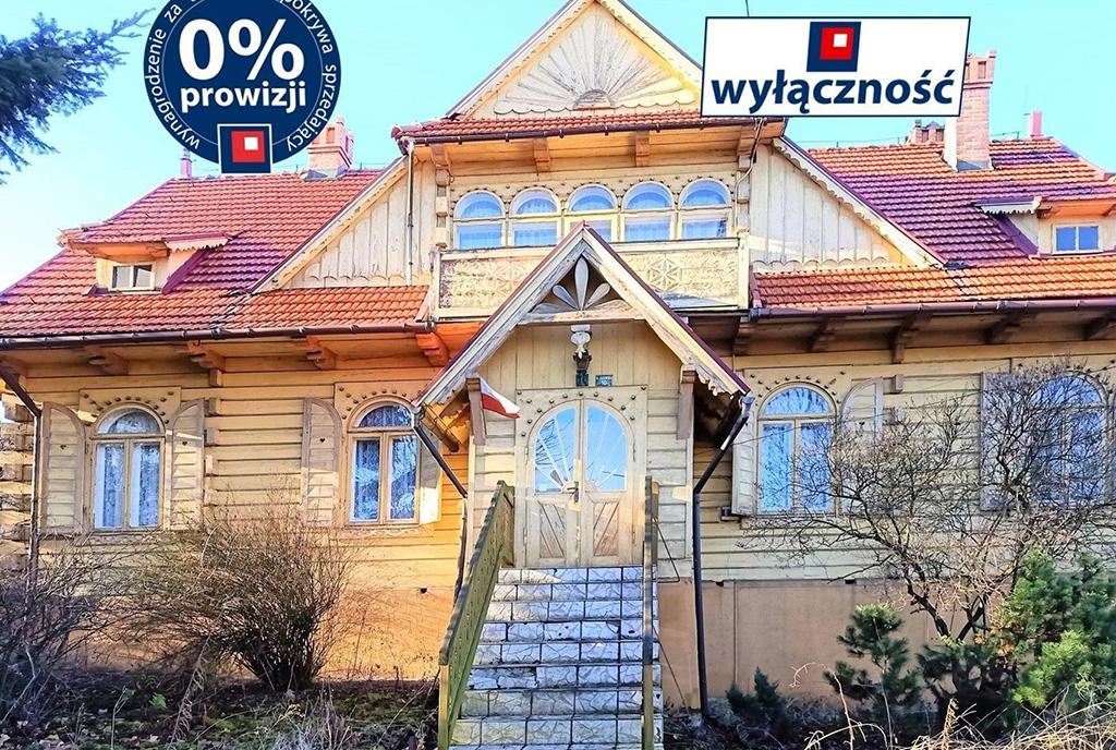 reprezentacyjne wejście do luksusowej willi na sprzedaż Kraków (okolice)