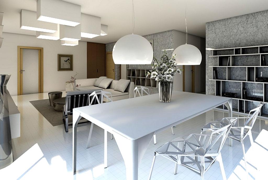 wytworny pokój dzienny w ekskluzywnym apartamencie do sprzedaży Gdańsk