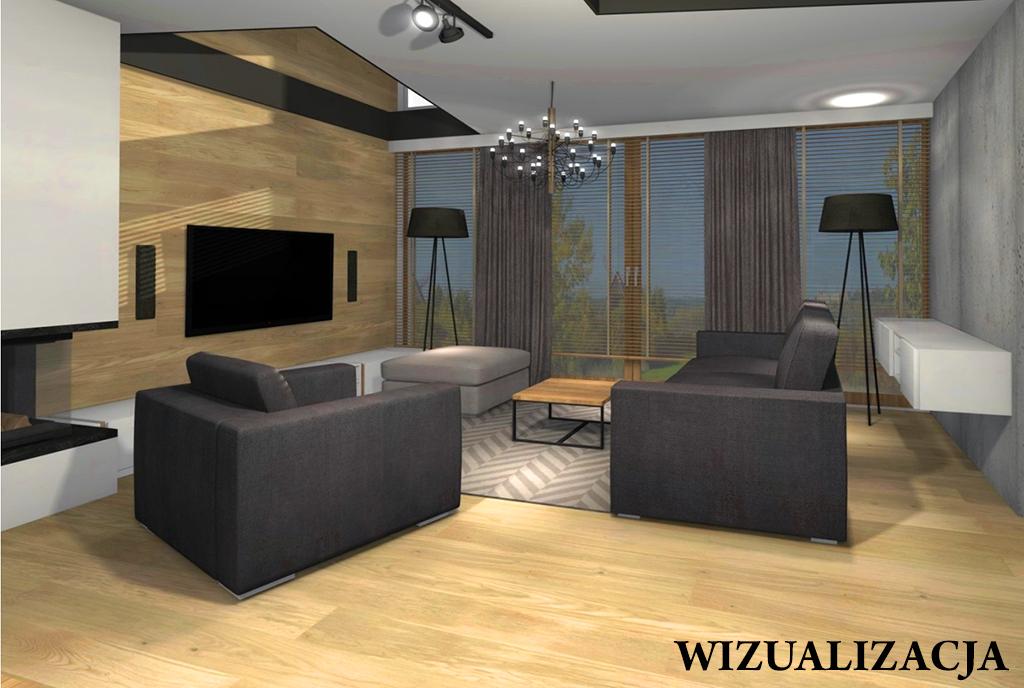 druga strona salonu w ekskluzywnym apartamencie do sprzedaży Kwidzyn