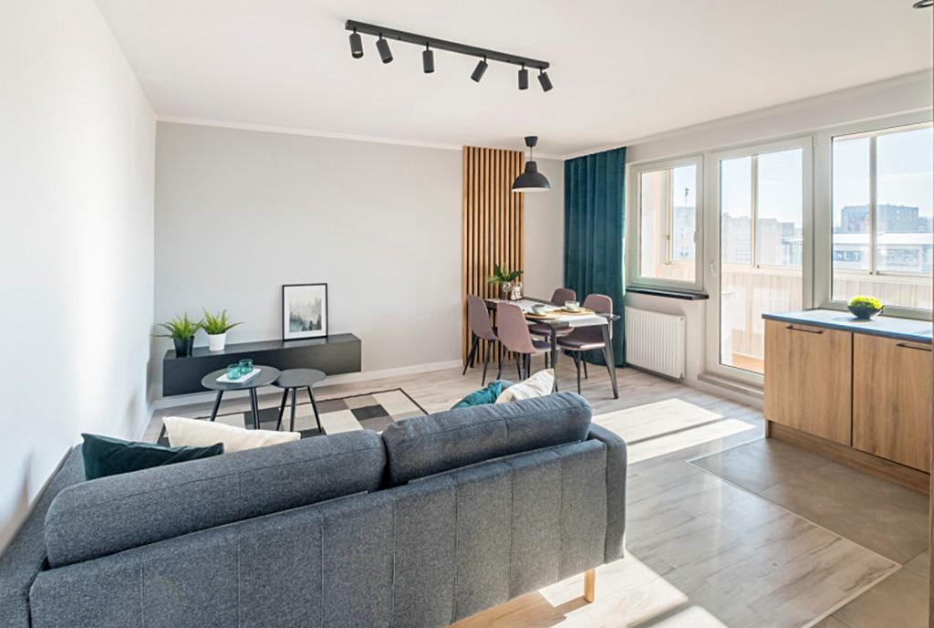nowoczesna aranżacja wnętrza ekskluzywnego apartamentu do sprzedaży Gdańsk