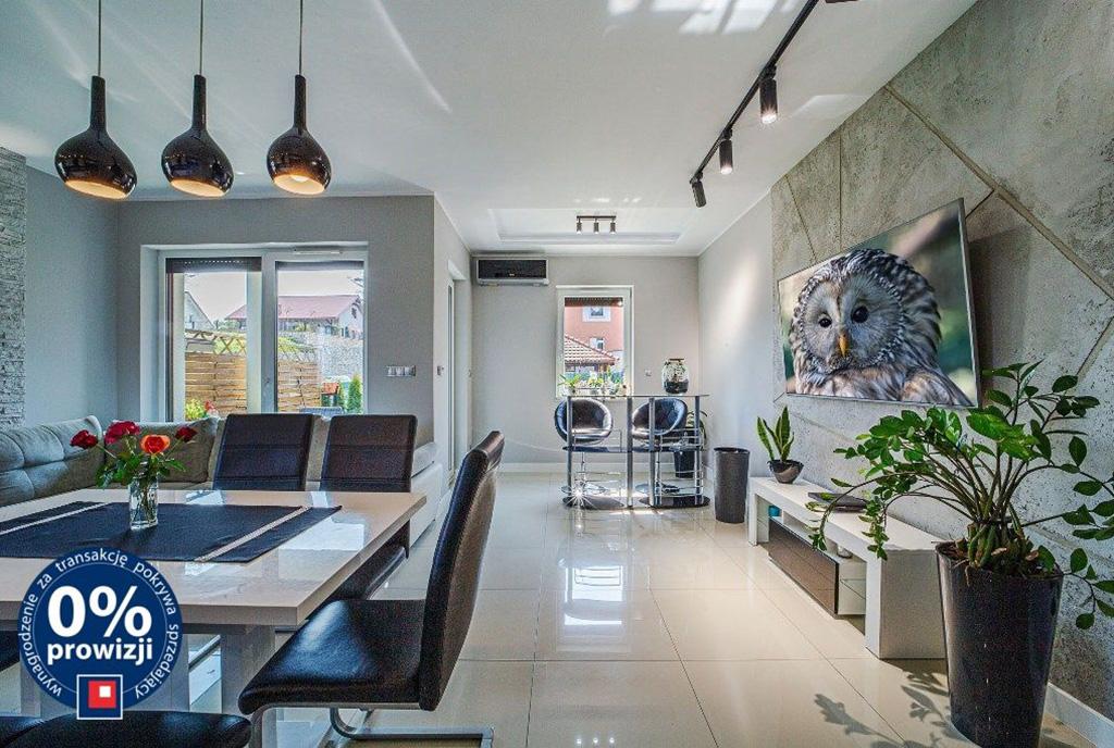 nowoczesny salon w ekskluzywnym apartamencie do sprzedaży Bolesławiec