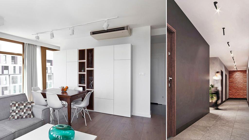nowoczesne wnętrze salonu w luksusowym apartamencie na sprzedaż Legnica