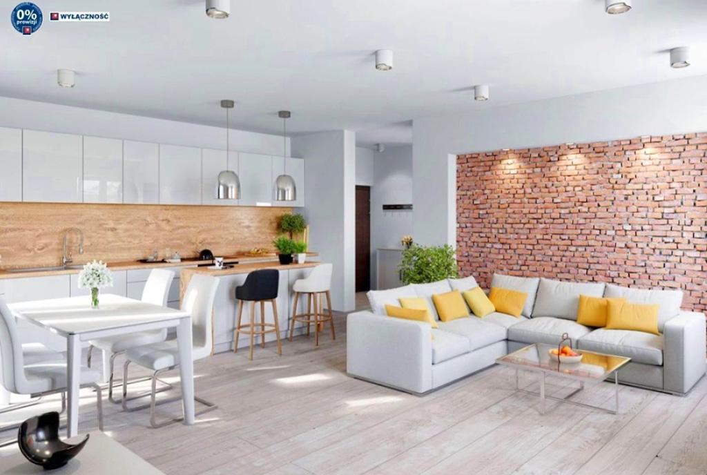 nowoczesna aranżacja pokoju gościnnego w ekskluzywnym apartamencie do sprzedaży Legnica