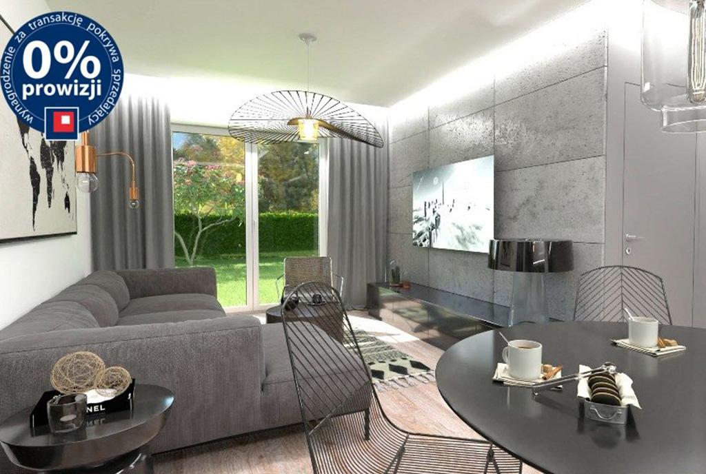 zaprojektowany w modnym designie salon w ekskluzywnym apartamencie na sprzedaż Bolesławiec