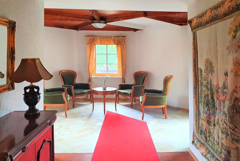 stylowy salon w luksusowym dworze do sprzedaży Wisła