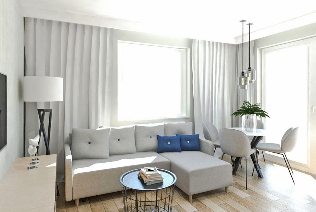 widok na drugą stronę salonu w ekskluzywnym apartamencie do sprzedaży Ostrów Wielkopolski