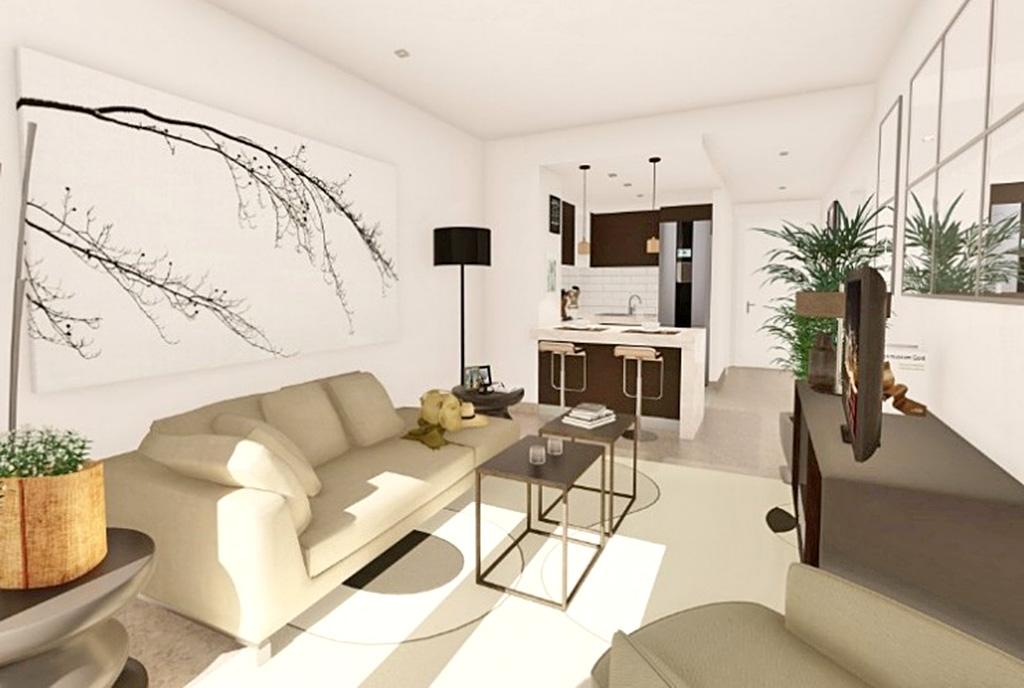 słoneczne wnętrze luksusowego apartamentu na sprzedaż Hiszpania (Manilva, Malaga)
