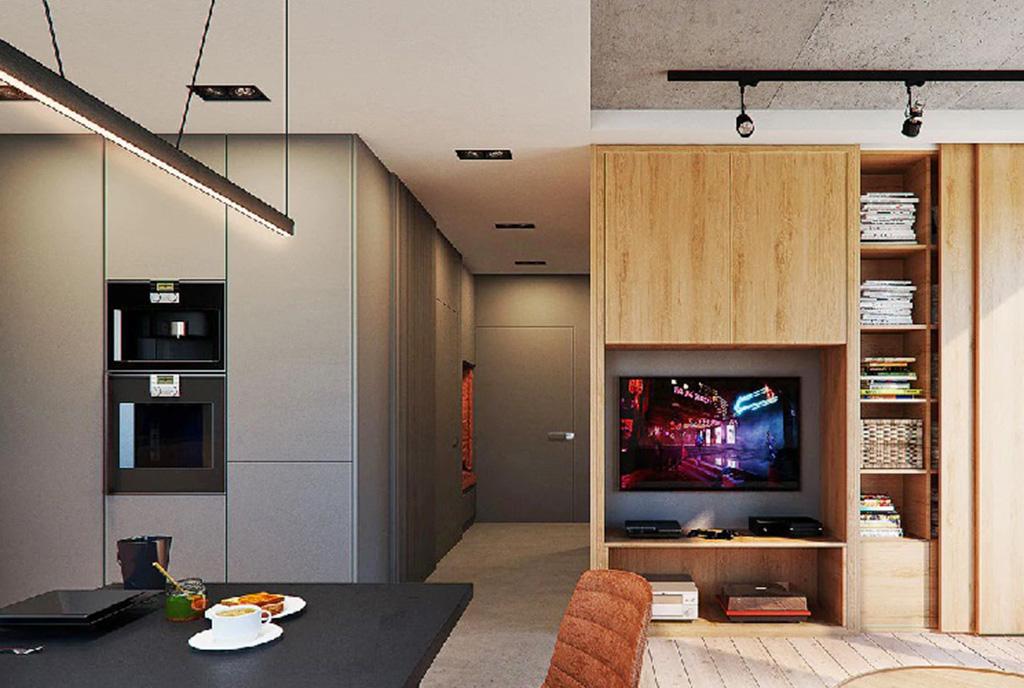 zaaranżowane zgodnie z najnowszymi trendami wnętrze luksusowego apartamentu na sprzedaż Legnica (okolice)