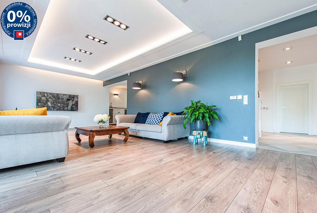 komfortowe wnętrze salonu w ekskluzywnej willi do sprzedaży Katowice