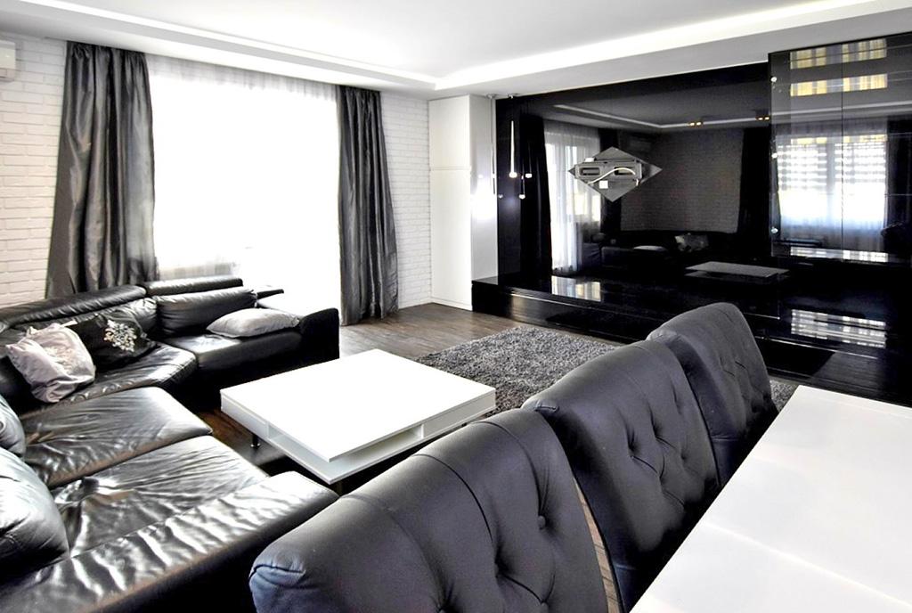 wytworny pokój dzienny w luksusowym apartamencie do wynajęcia Inowrocław